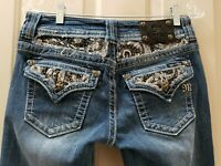 Miss me easy boot  Heavy Denim Jeans. Size 26 Rise 8 Waist Flat 15=30X34