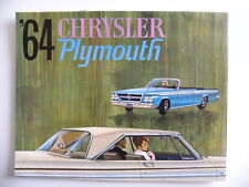 Catalogue Brochure '64 CHRYSLER PLYMOUTH