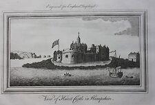 Original antique print HURST CASTLE, HAMPSHIRE, 'England Displayed', 1769