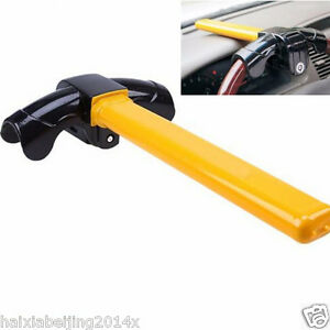 Universal Car Security Anti Theft Rotary Steering Wheel Metal Lock Clamp Cover