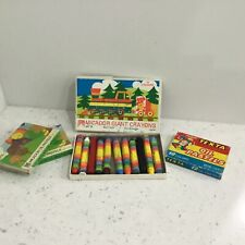 4 Packs of Crayons - Micador Crayons GC12 & S12, & Texta #454