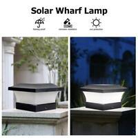 Solar LED Pfosten Plattform Kappen Quadrat Zaun Licht Landschaftslam Fence Light