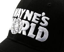 WAYNE'S WORLD Hat Embroidery Black Baseball Cap Party Movie Costume Hats New