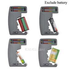 BT-768 Digital LCD Battery Checker Volt Tester Cell AA AAA C D 9V 1.5V Universal