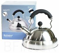 3 Litre Induction Stove Top Electric Gas Whistling Kettle Stainless Steel Teapot