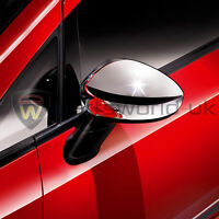 Pair New Genuine Fiat Punto Evo Shiny Chrome effect wing door mirror covers