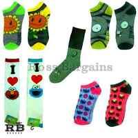 NEW Cute Plants vs Zombies & Sesame Street Socks - 2-Pair Ankle, 1-Pair Calf