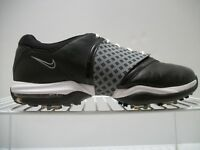 Women's Nike Air Blk/Gray Leather Golf Shoes Soft Spikes Traction At Contact 10M