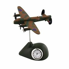 LANCASTER Plane Miniature Desk Clock Collectable Gift 9421