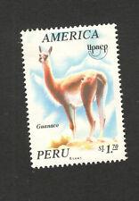 PERU- MH STAMP-FAUNA-WILD ANIMALS-AMERICA -1993.