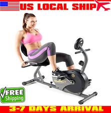 Marcy Magnetic Recumbent Bike with Adjustable Resistance and Transport Wheels NS