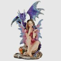Woodland Spirit Fairy - Dragon Mother Figurine Sculpture Ornament Gift