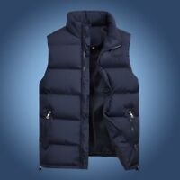 Mens Winter Down Cotton Vest Outwear Warm Sleeveless Jacket Waistcoats Over Size