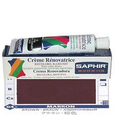 CREME CIRAGE PIGMENTAIRE RENOVATRICE CUIR SAPHIR AVEL TUBE 25 ML MARRON 04