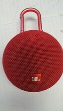 Genuine JBL Clip Altavoz Portátil Bluetooth 3-rojo utilizado Inc Iva