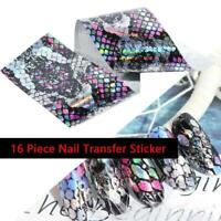 Holographic Starry-Sky Nail Foils Nail Art Transfer Sticker Decal 16Pcs 4*20cm