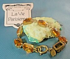 BRACELET French Popesco Antique GP Faceted made with Swarovski Crystals SIGNED