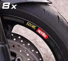 8 x aprilia OZ small wheel decals rim stickers laminated set RSV Tuono Factory