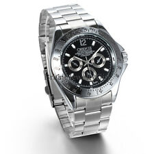 New Casual Luxury Mens Stainless Steel Band Quartz Wrist Watch Father's Day Gift