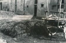 LORRAINE c. 1935 - Cour de Ferme Paille Charette - Div 11672