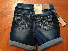 NEW SILVER Jeans Suki Denim Shorts Women's Size 25 NWT