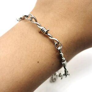 Barbed Wire Bracelet Chain Thorns Punk Gothic Men Women Choker
