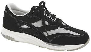 SAS Women's Shoes Tour Mesh Black / Silver Many Sizes & Widths FREE SHIPPING New
