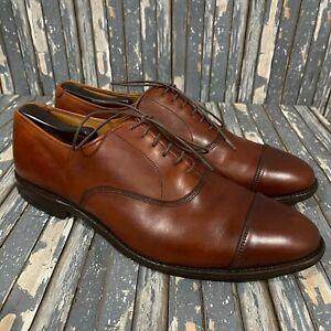 Allen Edmonds Park Avenue Cap Toe Leather Oxfords Brown Mens Size 11 D