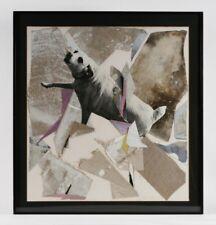 "Abstract Painting & Collage ""Dog"" by Dario Villalba 1985 / Warhol Collaborator"