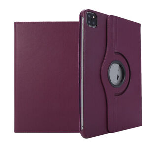 For iPad Pro 11 12.9 Inch 2021 Luxury Leather 360 Rotating Stand Flip Case Cover