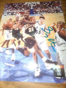 GARY PAYTON SIGNED/AUTOGRAPHED 8X10 PHOTO NBA SEATTLE SUPERSONICS
