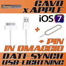 CAVO DATI USB PER IPAD IPOD IPHONE 3G 3GS 4 4s
