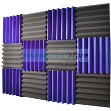 2x12x12 (12 Pack) ROYAL PURPLE/CHARCOAL Acoustic Wedge Studio Foam Tiles