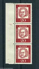 Bund 352 y Br Druckerzeichen F sauber postfrisch Randvermerk