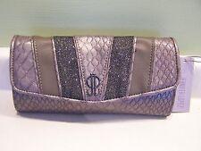 NWT Jennifer Lopez purse clutch handbag Taupe faux snakeskin leather Dariena JLO