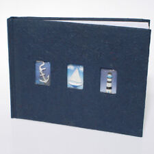Deep Blue Photo Album Sail Boat Anchor Lighthouse Mulberry Paper Cover 160 Pics