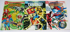 DC Challenge #10,#11,#12 All Signed(Curt Swan,Marv Wolfman,Mark Evanier)1986