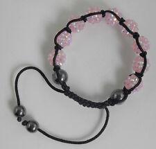 1pcs Disco Ball 9 Resin Crystal Beads Braided Adjustable Bracelet 12mm