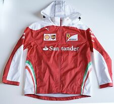 NEW Puma FERRARI F1 Official Mens Team Racing Jacket Hood Logo Santander Medium
