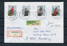 Einschreiben DDR Mi.-Nr. 3149-3152 Bromelien Gransee-Neuötting - b3790