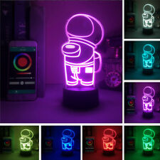 For Among Us Game 3D Night Light Acrylic LED Table Lamp Xmas Gift Kids Gifts