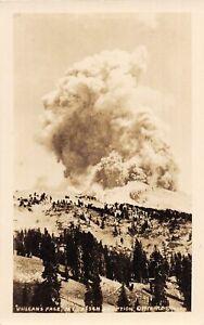 H91/ Mt Lassen California Postcard RPPC c1930s Eruption Volcano 143