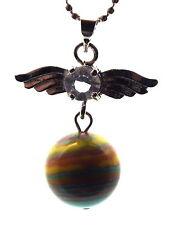 Guardian Angel Inspired Rainbow Calsilica Crystal Pendant