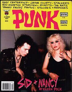 PUNK Magazine #20 Sid and Nancy Iggy Pop (1973 photos) Ron Asheton Misfits