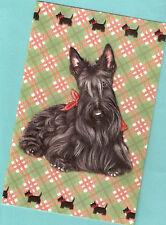 Scottish Terrier Scottie Tartan Embossed Christmas Cards Box of 16