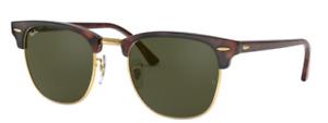 Ray-Ban Damen Herren Sonnenbrille RB3016 W0366 49mm Clubmaster braun gold