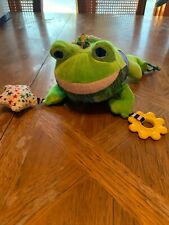 "The World of Eric Carle Croaking Frog Baby Activity Rattle Crinkle Toy 8"" Plush"