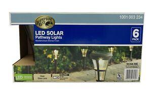 Hampton Bay Solar Mediterranean Bronze Outdoor LED Landscape Path Light 6-Pack
