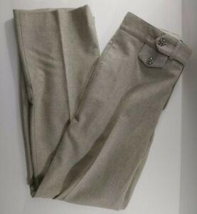 Ralph Lauren Purple Label Collection Italy Dress Pants Beige 100% Merino Wool 4