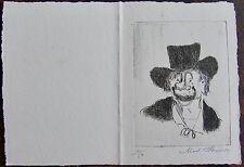 MADELEINE FLASCHNER: Gravure signée et numerotée, Carte de vœux 1990 . ...